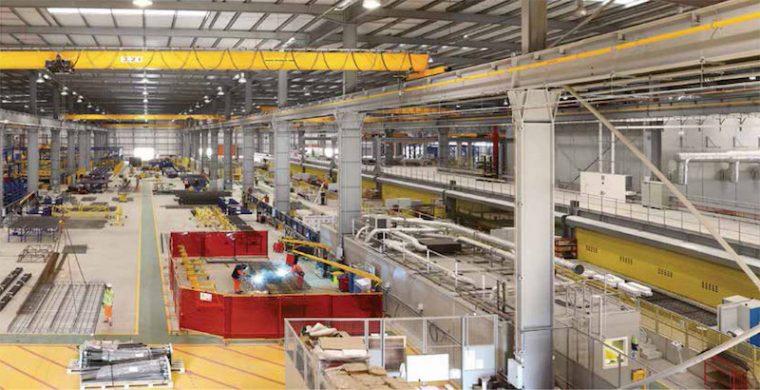 Inside an offsite construction factory.