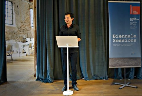 HY William Chan presenting at Venice Architecture Biennale