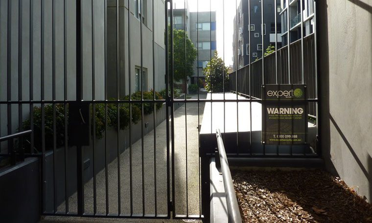 The secure private garden on the redeveloped Carlton estate.