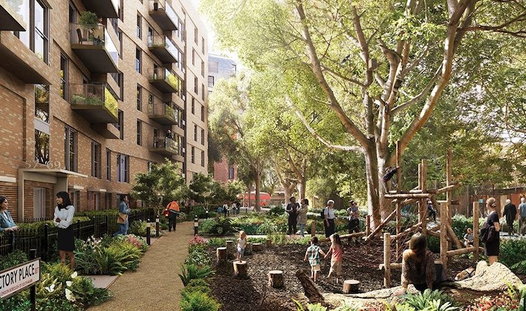 Images of the revamped Heygate Estate under way