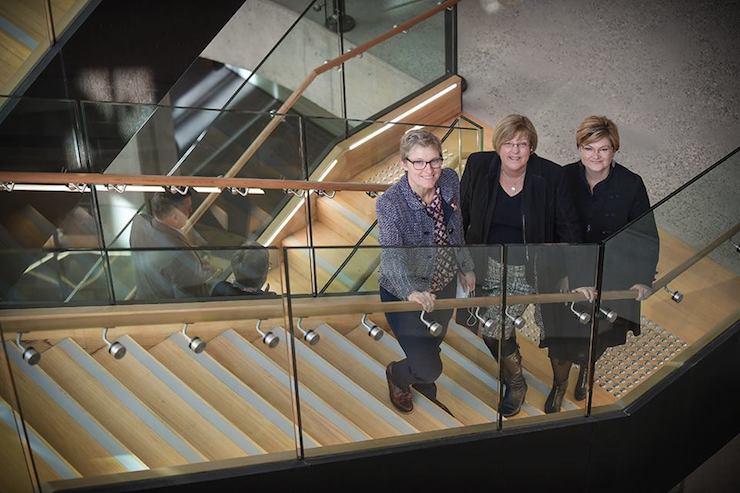 Barwon Water Managing Director Tracey Slatter, Water Minister Lisa Neville, Barwon Water Chair Jo Plummer.