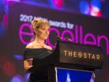 Esti Cogger receiving award at NAWIC awards 2017