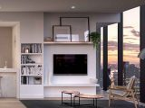 apartment interior with view