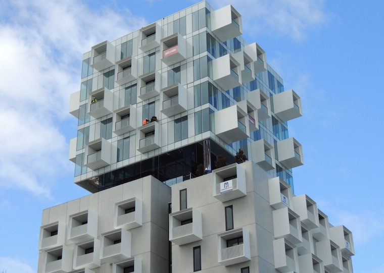 apartments against sky