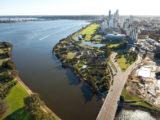 ariel shot of Perth