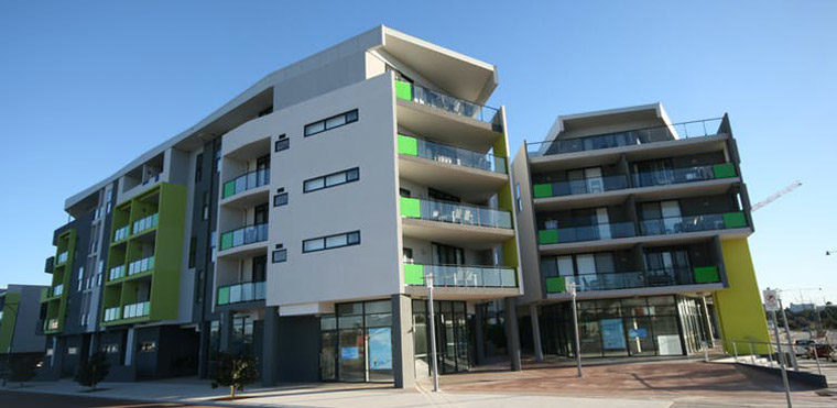 The Living Space development in Cockburn, Western Australia, has won praise as an innovative mixed-use social housing project. Image courtesy of HHA Projects