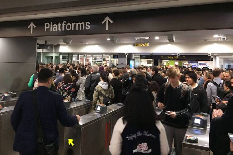 sydney train station peak hour