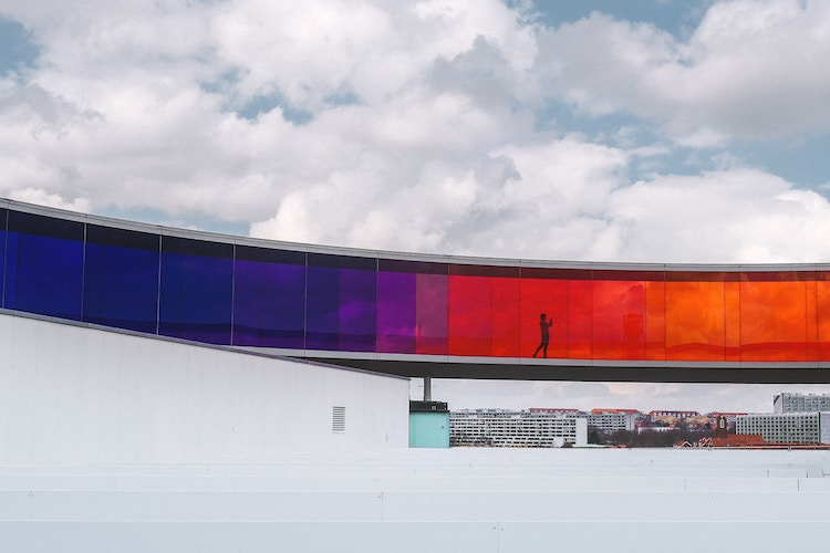 colour glass building