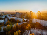 https://www.pexels.com/photo/aerial-view-of-white-concrete-buildings-during-golden-hours-681368/