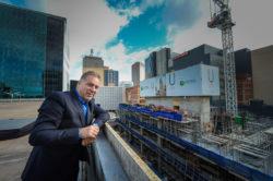 Uniting Communities chief executive Simon Schrapel at the U City construction site.