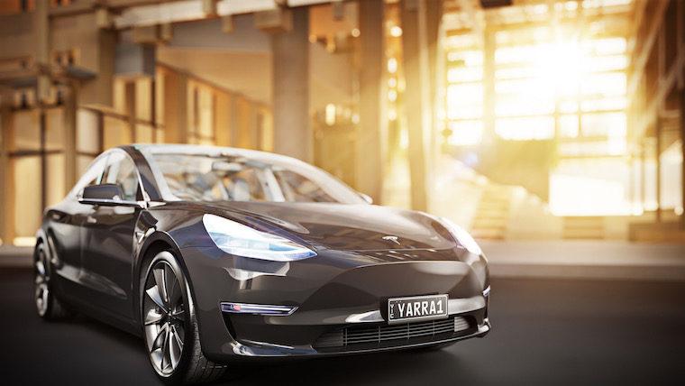 YarraOne - Tesla with Plate