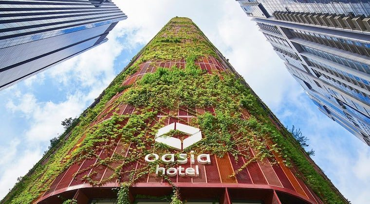 Oasia Hotel Downtown. Image: WOHA