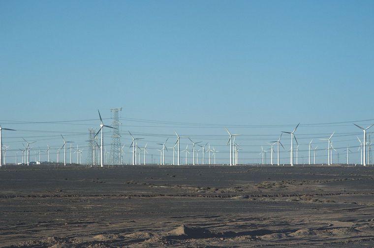 Gansu windfarm china
