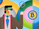 Enosi Illustration of Block Chain and Bitcoins Series