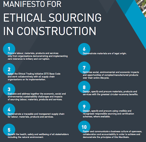 Ethical Sourcing Construction Manifesto