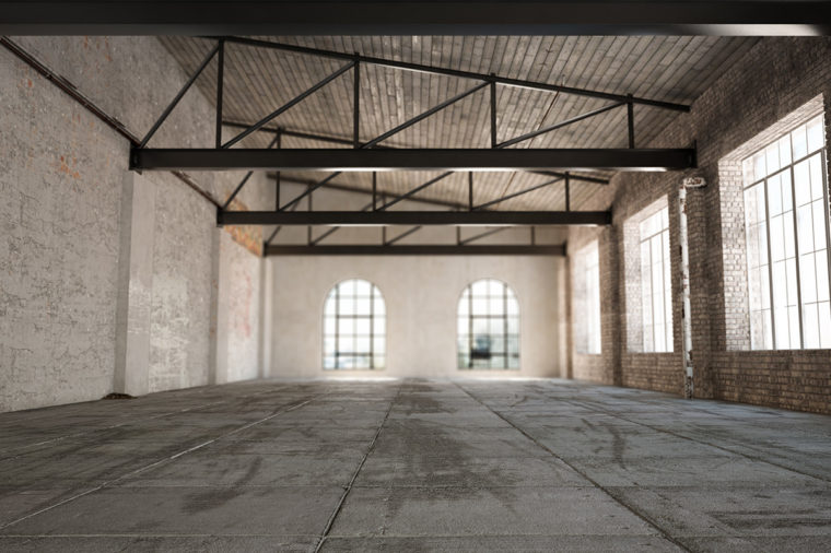 industrial empty warehouse