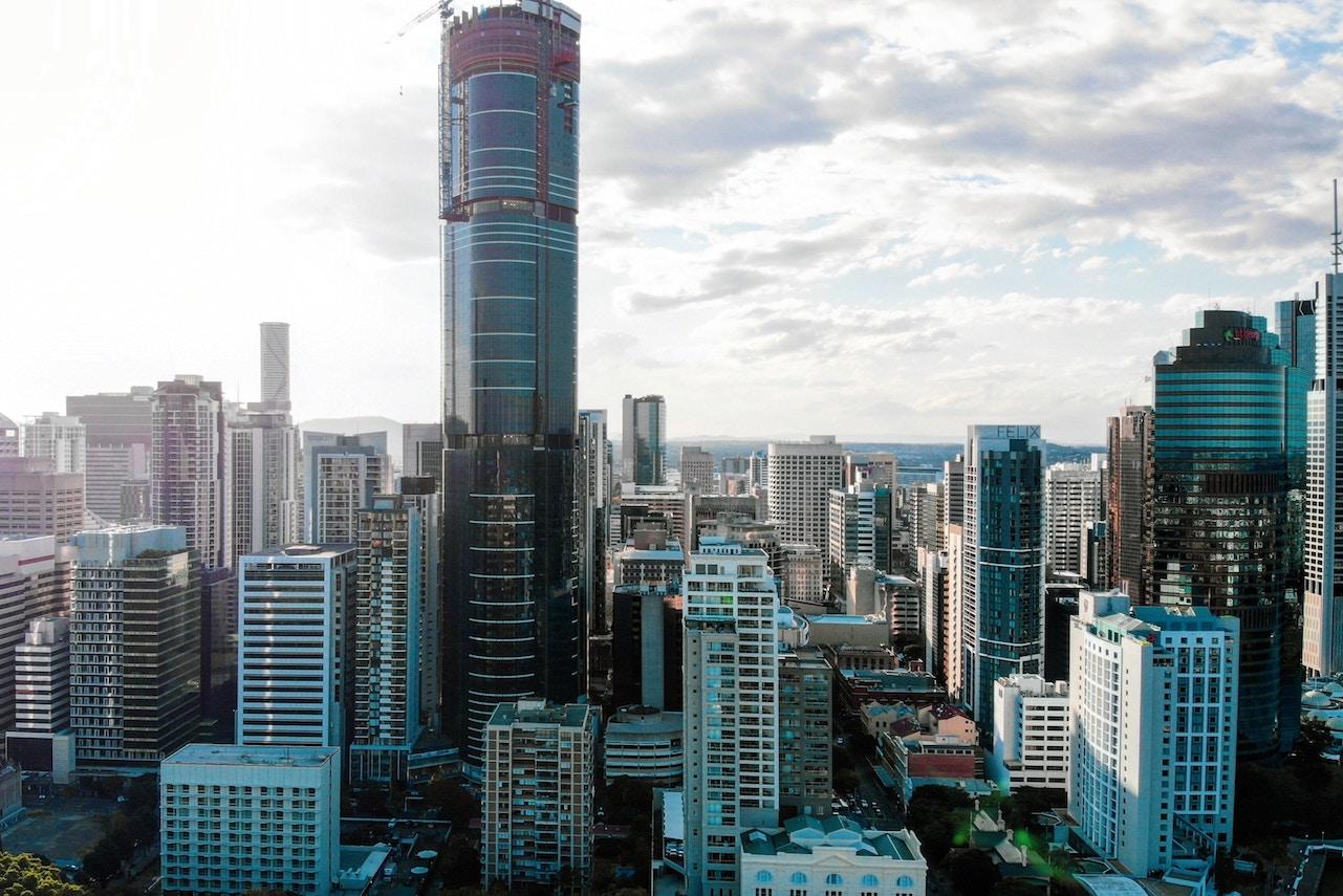 Brisbane cityscape climate change action