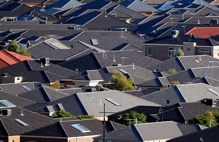 dark roofs