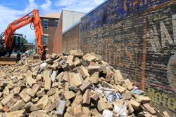 Demolition site in Newtown, Sydney. photo: Chris Chesher