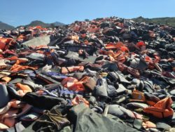 Lesbos Lifejacket Graveyard; every one is a story of courage, struggle and survival