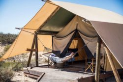 Sal Salis Ningaloo Reef is a beach-side safari camp nestled in the dunes of the Cape Range National Park, Western Australia.