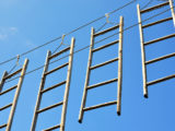 ladders in the air to nowhere