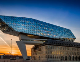 Port House by Architect Zaha Hadid for the Antwerp Port Authority
