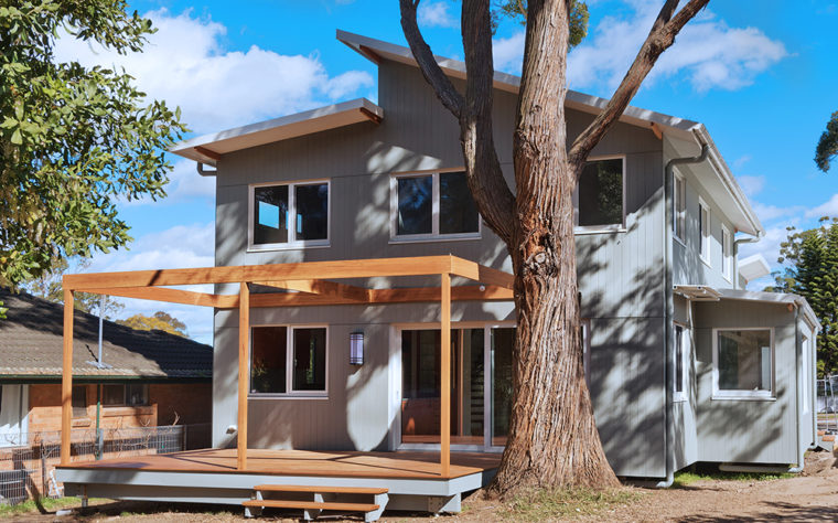passive house exterior trees, Thornleigh