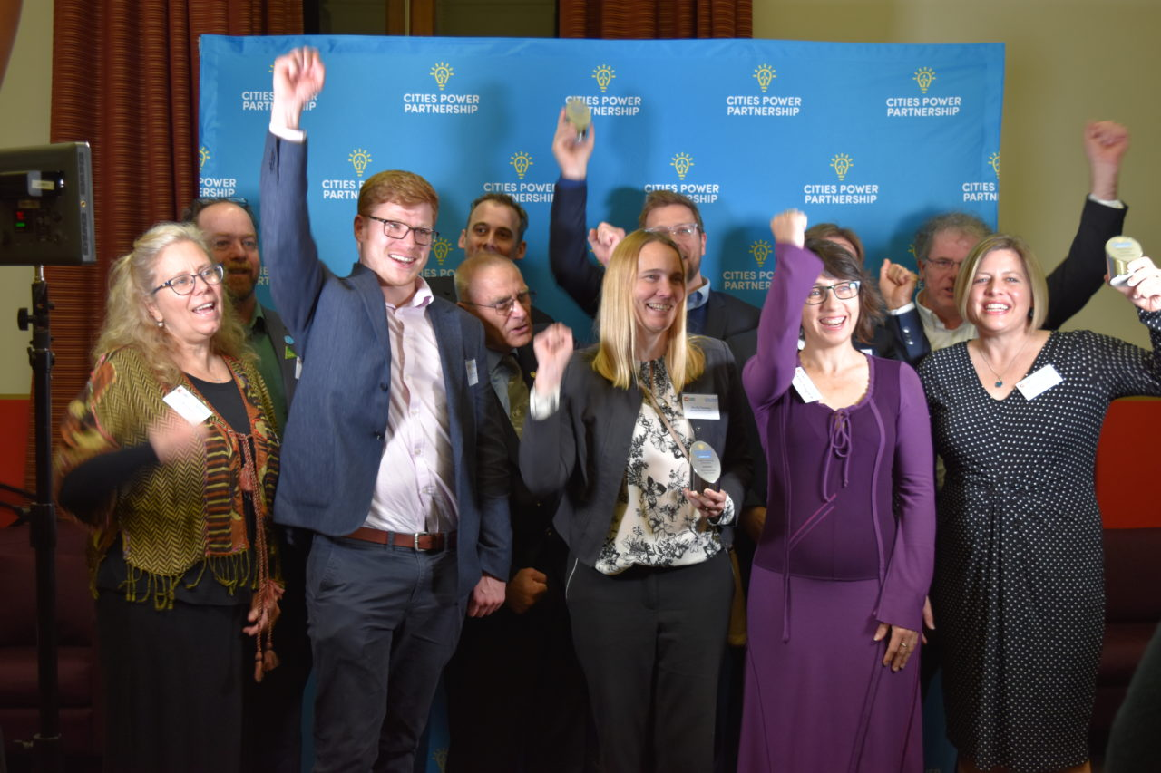 Photo of all the Climate Council's Cities Power Partnership Awards winners