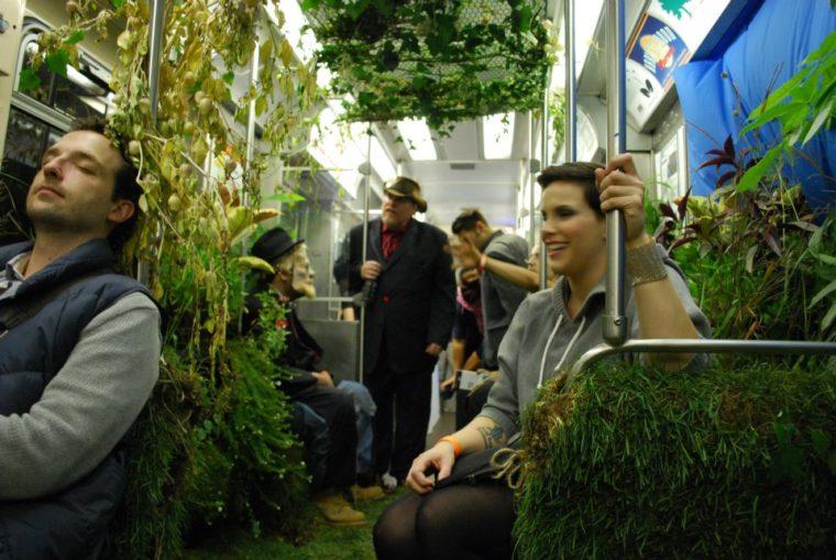 A mobile garden in Chicago, USA.