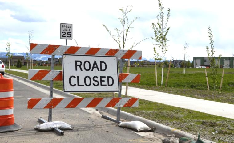 Photograph of a roadblock