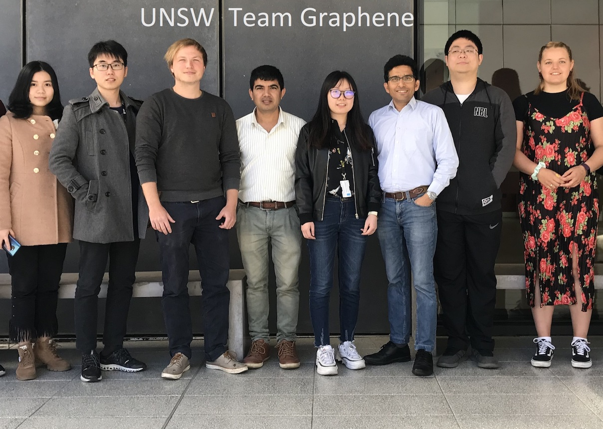 Photo of Team Graphene, researchers at UNSW