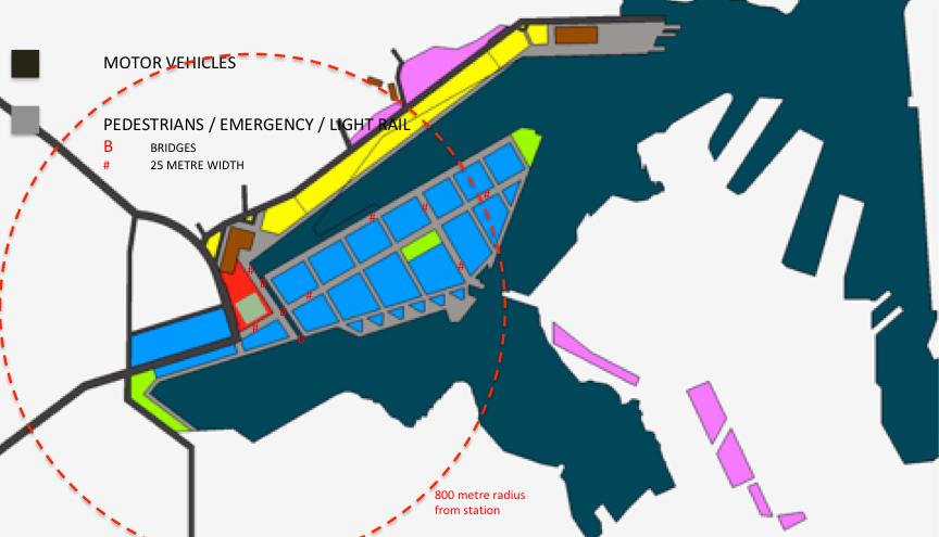 Figure 5. Summary of suggested development (above ground)