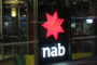 NAB bank sign