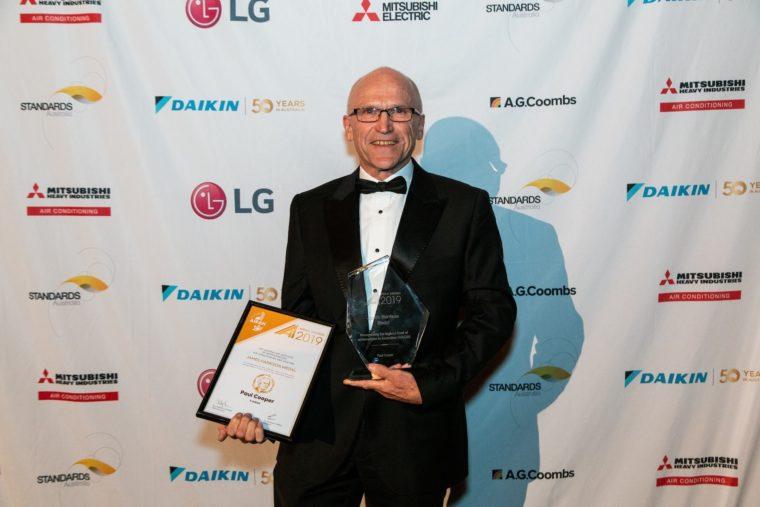 AIRAH AWARDS 019 winner Paul Cooper