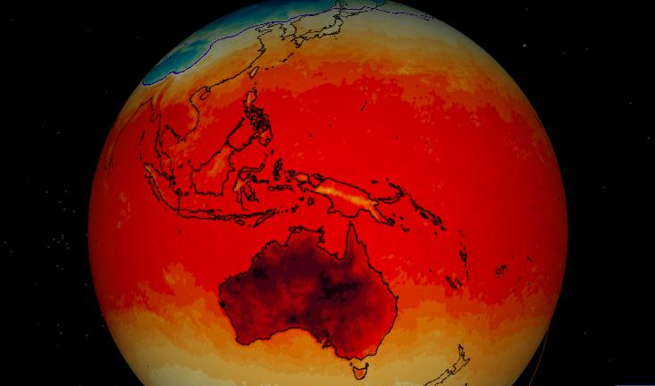 Nasa earth now australia