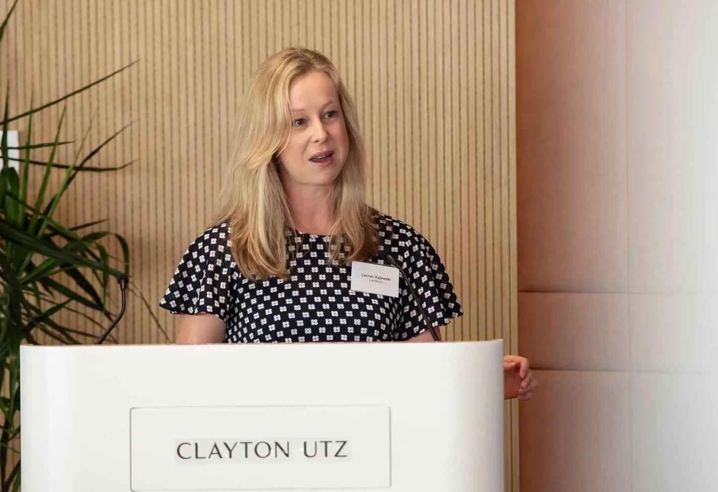 Lauren Kajewski, director of sustainability & learning at Landcom