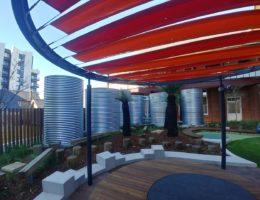 six rainwater tanks