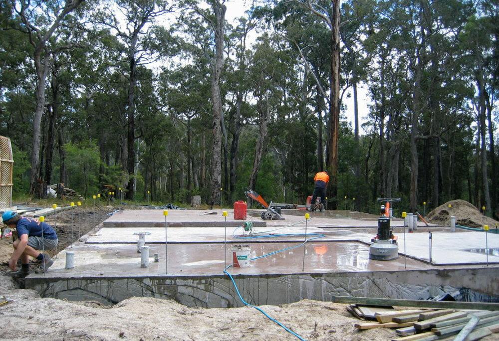 polished concrete slab