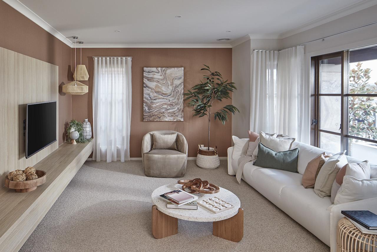living room metricon zero net home