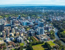 Parramatta aerial shot