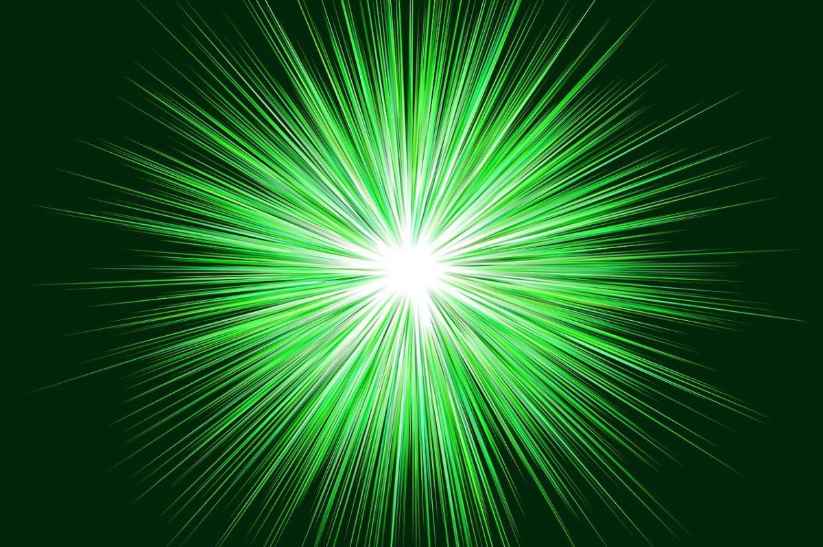 green star burst