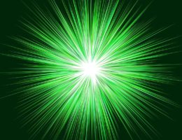 green star burst