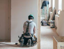man in hard hat construction