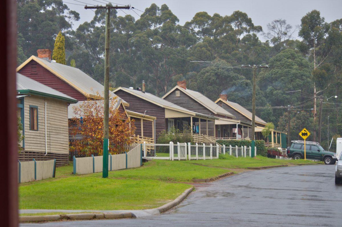 houses on street