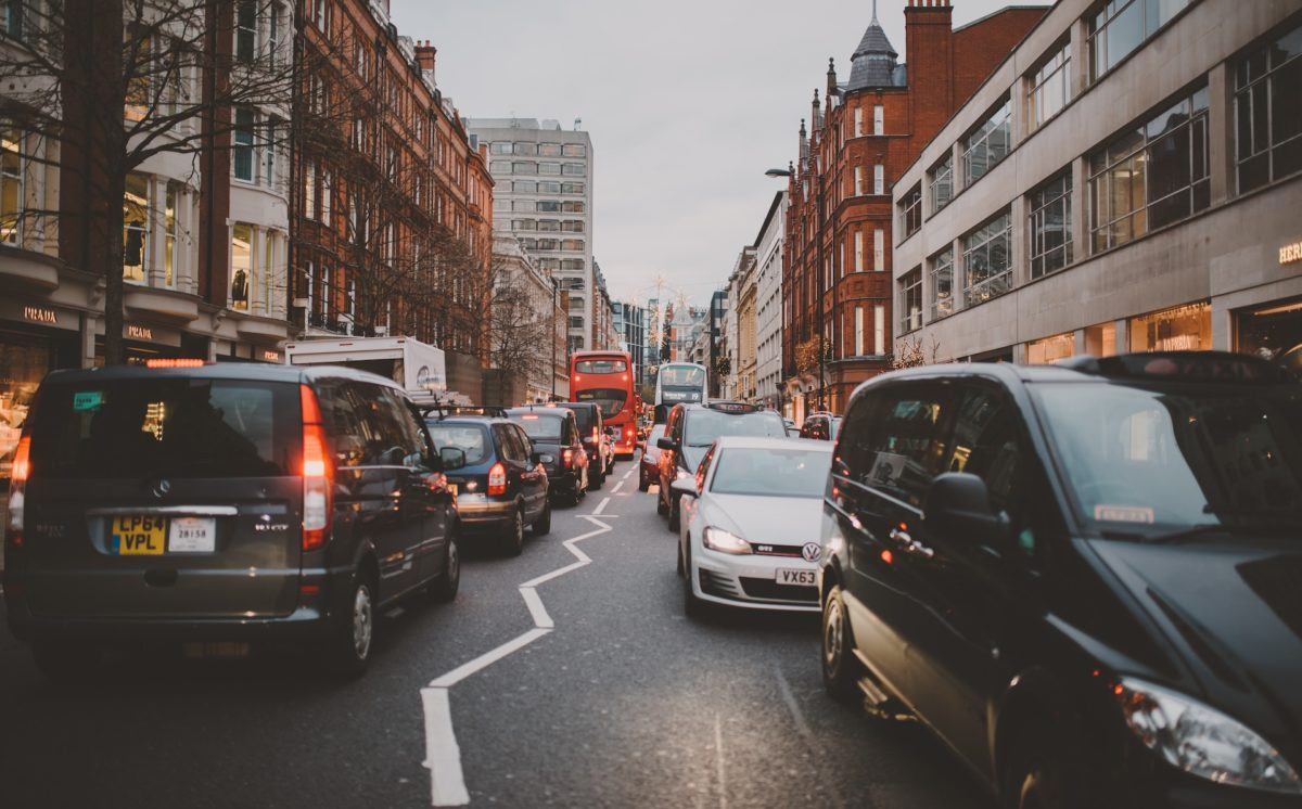 london city car traffic